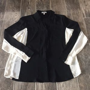 Express Portofino Shirt in Black and White